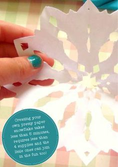 tickle the imagination | a handmade christmas - handmade snowflakes