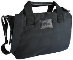 Lacoste Bags Lacoste Computer Bag Black - Terraces Menswear 3c4994f305351
