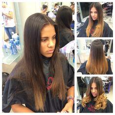 #balayage #copper #girl #female #hair #volume