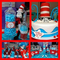 Cat in the hat candy buffet