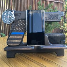 Dock station and Custom phone stand. Gun gifts, Police officer gifts and gift for husband