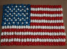 Activities:  Mosaic American Flag This calls for jellybeans, but I'm thinking navy beans would work and let the kiddos pain some red and blue to extend the length of keeping them occupied.