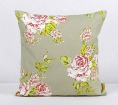 This is for one 16 inch x 16 inch Taupe English Rose double sided cushion cover. This cushion cover comes in a Taupe English Rose fabric on both sides of the cushion cover. With an invisible zip which is at the bottom of the cushion cover, This give a . Shabby Chic Throw Pillows, Floral Pillows, Throw Pillow Cases, Pillow Covers, Bee Design, Design Shop, Clarke And Clarke Fabric, Handmade Cushions, English Roses