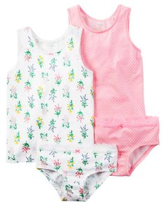 Toddler Girl 4-Pack Stretch Cotton Undershirts & Panties | Carters.com