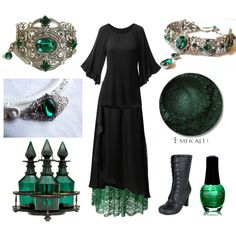 Emerald Witch by maggiehemlock on Polyvore featuring Doublju, Vero Moda, Chicwish and SpaRitual