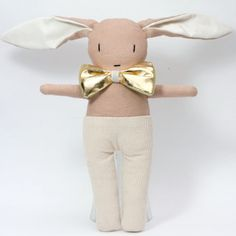 Image of Little ozzie + gold bow tie