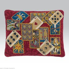 Ehrman 1992 Medieval 'Playing Cards' Needlepoint Tapestry KIT Bycandace Bahouth   eBay