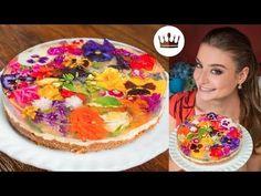 TORTA JARDIM ESPELHADA (com flores comestíveis!)   Gabi Rossi - YouTube