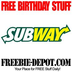 FREE BIRTHDAY STUFF - Subway - Birthday Freebies - FREE BDay Cookie, Drink or a Bag of Chips #freebirthday