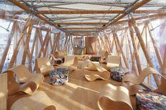 Shanghai - Bamboo German-Chinese House - Fabric Architecture - Serge Ferrari composite membranes