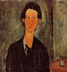 Amadeo Modigliani (Italian) Portrait of Soutine, Private Collection. Modigliani and Soutine were best friends during these years in Paris. Amedeo Modigliani, Modigliani Portraits, Karl Schmidt Rottluff, Bel Art, Chaim Soutine, National Gallery Of Art, National Art, Art Gallery, Italian Painters