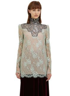 Women's Tops - Clothing | Discover Now LN-CC - Metallic Scalloped Lace Top