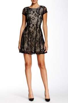Short Sleeve Lace Dress by AGB on @HauteLook