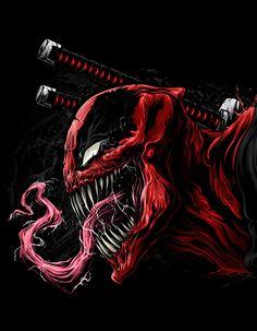 Marvel Drawing Venompool on Behance - Marvel Vs, Marvel Venom, Marvel Films, Marvel Heroes, Marvel Characters, Marvel Comics, Deadpool Wallpaper, Marvel Wallpaper, Hd Wallpaper