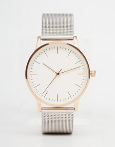 ASOS Mixed Metal Mesh Watch