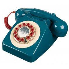Retro Telefoon 746 Petrol Blue