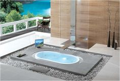 Inground over flowing bath tub....  Yes please!!!