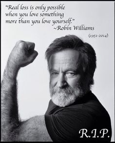 Beneath Robin Williams' zany exterior, we always suspected a very special person lurked. These Robin Williams quotes prove that was indeed the case. Madame Doubtfire, Robin Williams Quotes, Cult, Looks Black, When You Love, Man Humor, Famous Faces, Belle Photo, Comedians