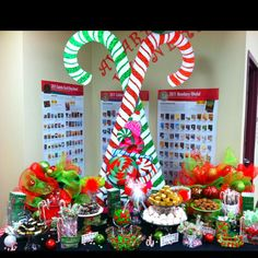 Pinterest Christmas Party   School Christmas Party...candy table! ;)   Christmas cheer