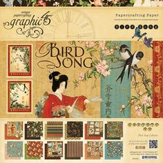 """Craftie-Charlie: Graphic 45 Papercrafting 12""""x12"""" Paper Pad - Bird Song 24 sheets"""