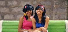 Nivedha and Nikita.