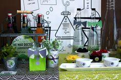 Mad Science Party  boy birthday party ideas www.spaceshipsandlaserbeams.com