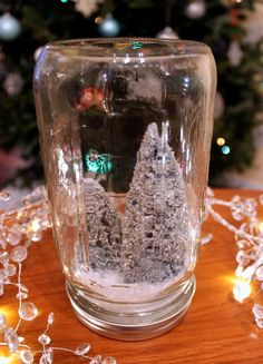 DIY Snow Globes : DIY Anthropologie Mason Jar Snow Globe