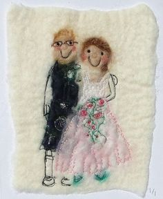 unique personal wedding cards by red cat handmade