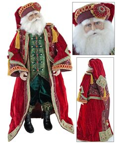 """Katherine's Collection Imperial Guardsman Christmas Collection 24"""" Nutcracker Santa Claus Doll Free Ship"""