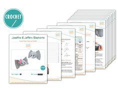 Crochet Elephant Pillow with PDF Pattern