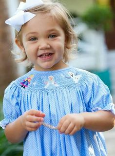 Frozen Smocked Dress perfect for Disney