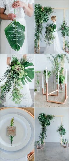 Get loads of greenery + copper wedding ideas, plus lots of useful decor tips for minimalist styling, flower names, DIY projects + more here: http://www.confettidaydreams.com/greenery-and-copper-wedding-ideas/   Images: Debbie Lourens // Styling Erin HAPPINEST