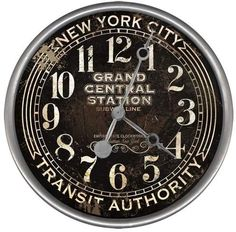 Vintage Signs Subway Wall Clock
