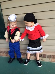handmade homemade popeye halloween costume boys 6x 7 cool stuff pinterest kost m fasching. Black Bedroom Furniture Sets. Home Design Ideas