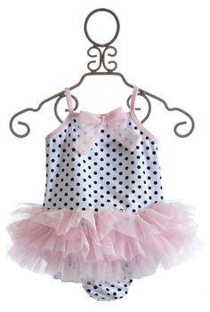Kate Mack Jenny Annie Dots Girls Ballerina Swimsuit  $52.00