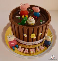Tarta Peppa Pig. Aroma de chocolate