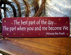 The best part of the day Wood Sign for your Sweetie Wall Decor. $24.00, via Etsy.