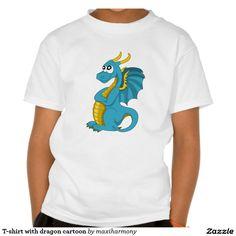 T-shirt with dragon cartoon
