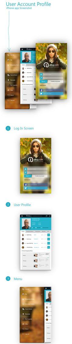 iOS App concept – User account Profile - #mobile