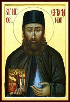 Sfantul Efrem cel Nou Byzantine Icons, Orthodox Icons, Christianity, Saints, Pictures, Art, Photos, Art Background, Kunst