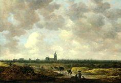 Jan Josephsz. van Goyen (1596 - 1656). Gezicht op Den Haag vanuit het Noord-Westen, 1647. (Coll. The Metropolitan Museum of Art, New York)