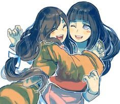 Hanabi & Hinata. I LOVE THIS SO MUCH OH MY GOSH. SISTER LOVE