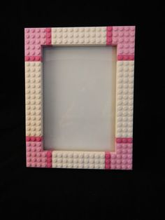 This LEGO® picture frame is perfect to show off the personality of anyone who loves Lego and having fun! Alternatively, the frame could be used for as a small dry erase board. The frame will hold a ph Cardboard Picture Frames, 5x7 Picture Frames, Diy Projects To Sell, Lego Projects, Frame Crafts, Diy Frame, Lego Frame, Lego Pictures, Recycled Gifts