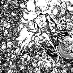 """Spaceman Spiff"" • Tough Wallet • Dynomighty.com/user/Captain-RibMan #space #tiger #geek #pulp #retro @dynomightydesign"