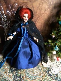 SOLD...OOAK 5.5 inch Poseable Doll The Winter Couture by LoreleiBlu, $95.00