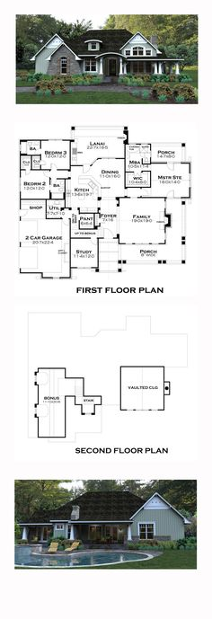 Bungalow House Plan 65875 | Total Living Area: 2267 sq. ft., 3 bedrooms and 3 bathrooms. #bungalow