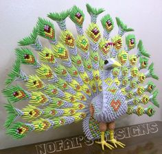 Mohammad Nofal | Album | Peacock… | 3D Origami Art