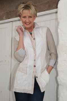 Just White appliqué shirt.704 | Blouses | Pinterest | Shirts ...