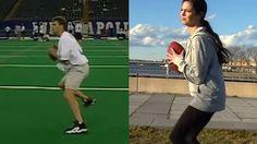 Katie Nolan Tries To Beat Tom Brady's Famously Bad Combine...: Katie Nolan Tries To Beat Tom Brady's Famously Bad Combine… #TomBrady