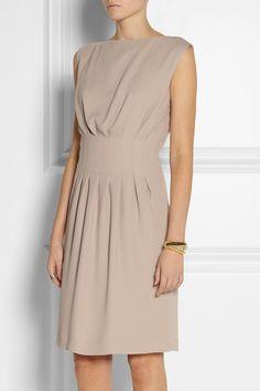 Maison Martin MargielaPleated crepe dress